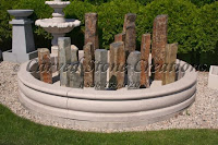 10' Round Tuscan Fountain Pool Surround, Giallo Fantasia D