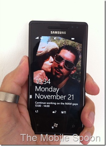 Wp7 LockScreen - The Mobile Spoon - Gil Bouhnick