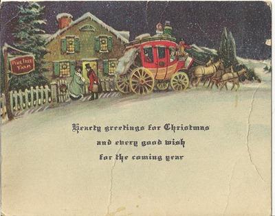 Christmas postcard Dorset 3