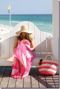 beach pink dress
