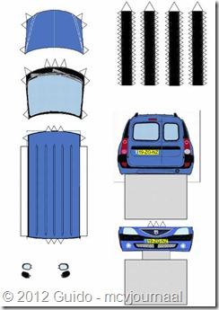 Papiermodel Dacia Logan MCV 01