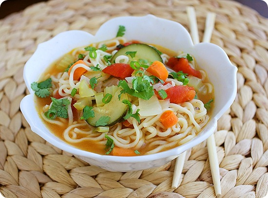 Ramen Vegetable Soup – A scrumptious spin on Ramen in an easy, zesty and belly-warming soup! | thecomfortofcooking.com
