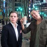 drinking beer on yasukuni street in Roppongi, Tokyo, Japan