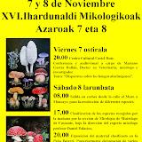 XVI JORNADAS MICOLÓGICAS DE BETERRI EN TUDELA