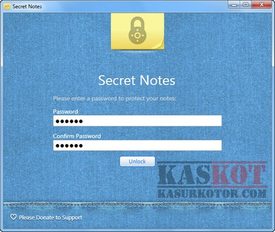 Secret Notes - Sticky Notes dengan Password