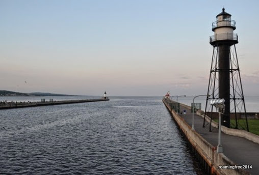 The channel where the freighters go in and out