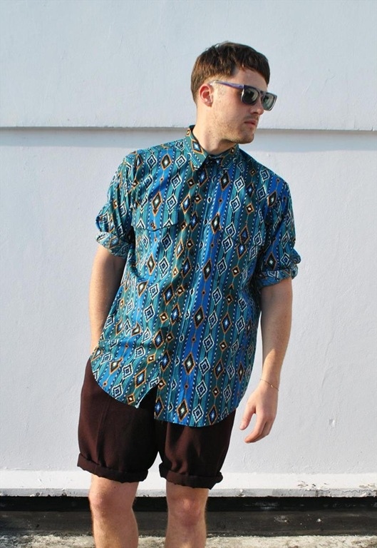 Vintage Navajo Inspired Pattern Shirt, £35, Ease The Squeeze