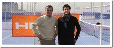 Ricardo Fernández, Category Manager de Deportes de Raqueta de HEAD España, y Javier Martí, Consejero Delegado de Ciudad de la Raqueta