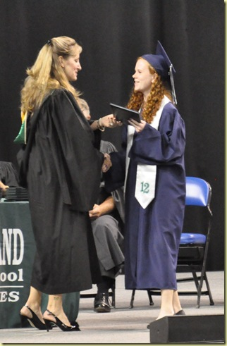 Tory getting diploma 2