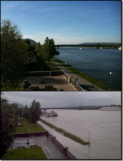 Danube before after