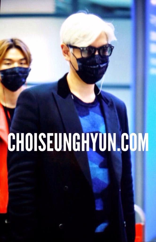 Dae Sung & TOP - Incheon Airport - 01jan2015 - TOP - Choidot - 02.jpg