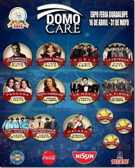 Boletos y Cartelera de conciertos domo care feria guadalupe 2015