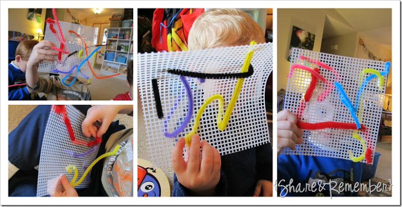 preschool weaving
