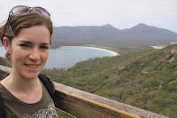 Mel overlooking Wineglass bay