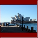The Sydney Opera House and a ferry from the other side of Sydney Cove_t