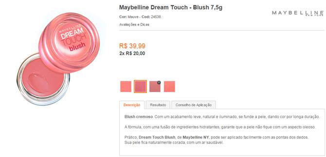 blush - mousse - maybelline - beleza na web