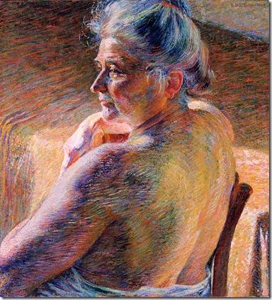 Umberto Boccioni_Nudo di spalle (Effetto di sole), 1909