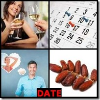 DATE- 4 Pics 1 Word Answers 3 Letters