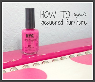 how to repair lacquered furniture