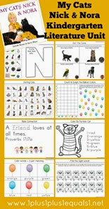 My Cats Nick and Nora Kindergarten Literature Unit Study Printables