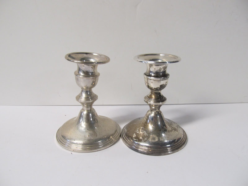 Sterling Silver Candlestick Pair