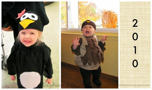 Handmade Penguin and Owl costume for girls easy DIY