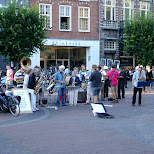 open air concert on the grote markt in haarlem in Haarlem, Noord Holland, Netherlands