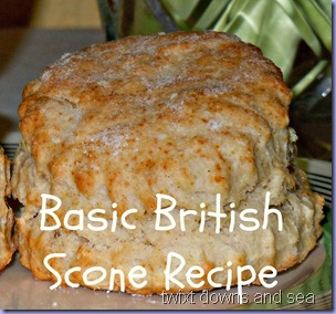 Basic British Scones recipe twixt downs and sea
