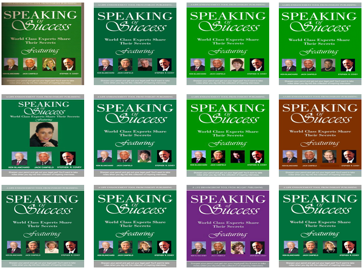 Pretend you wrote Speaking of Success with Blanchard, Canfield and Covey