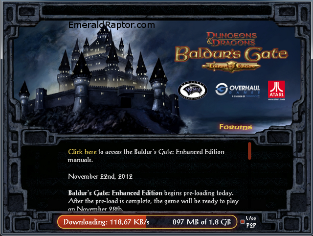 Baldur's Gate enhanced edition donwloader