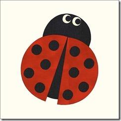 appliqued animals ladybug