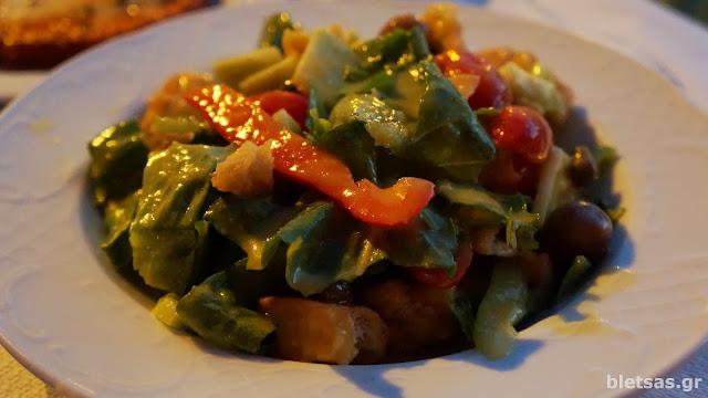 σαλάτα με dressing μανταρήνι