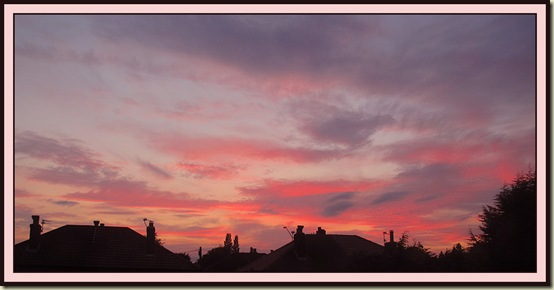 Sunset from a bedroom window in Timperley - 2 August 2011