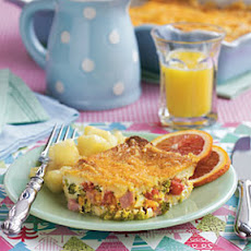 Holly's Broccoli Ham and Cheese Strata