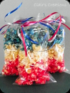 red, white blue popcorn