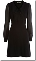 Black find knit dress