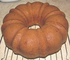 cran cardamon cake on cooling rack