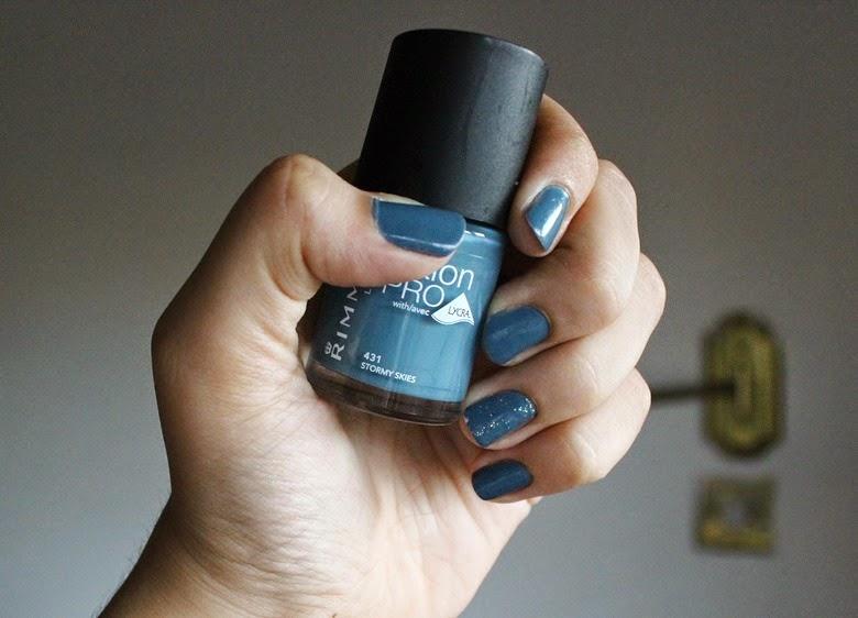 Rimmel Salon Pro Nail Polish with Lycra - Stormy Skies (431)