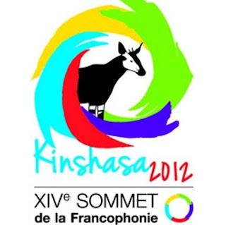 Logo du XIVe Sommet de la Francophonie, Kinshasa/RDC 2012. Radio Okapi/Ph. Aimé-NZINGA