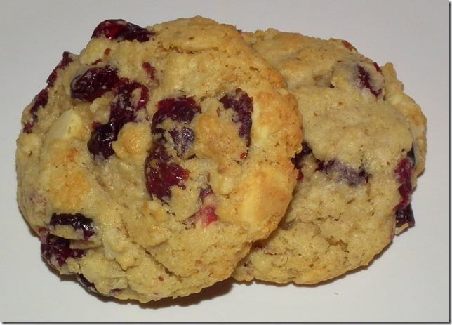 White Chocolate Cranberry Almond Oat Cookies 10-12-11