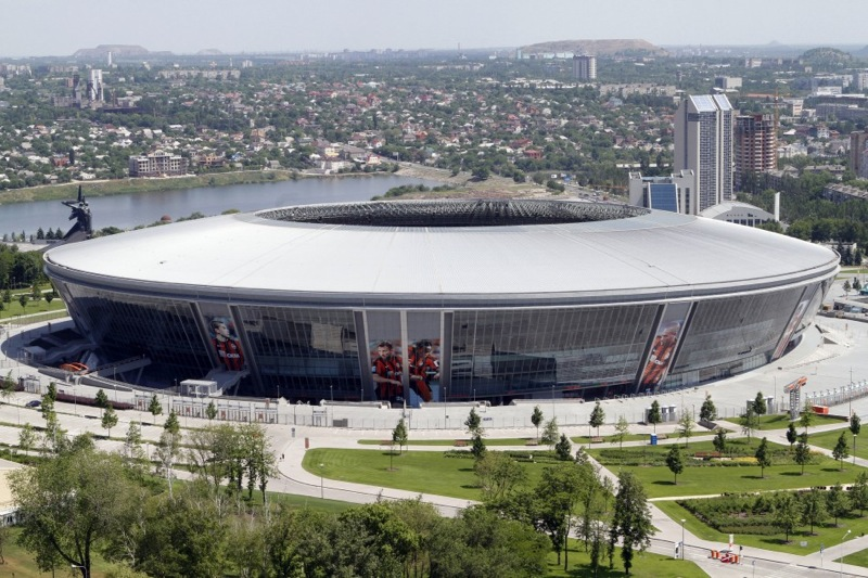 198690 a general view of the new donbass arena stadium