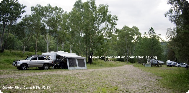 Gwydir River Campground - before the river started rising