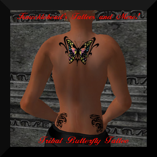Tribal Butterfly Tattoo Design Tribal Butterfly Tattoo Design