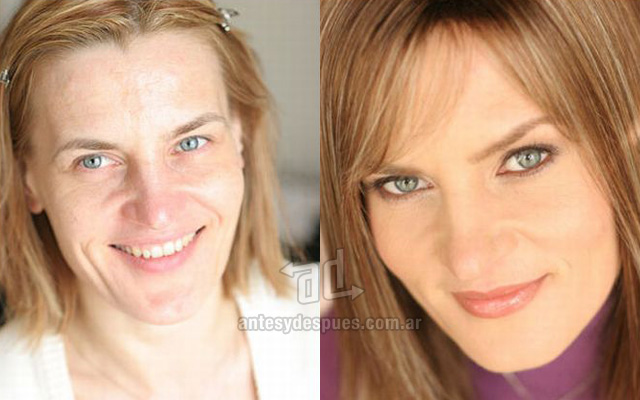 Antes y despues del maquillaje 13