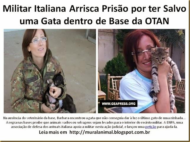 Militar Italiana Arrisca Prisão por ter Salvo uma