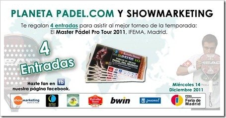 PlanetaPádel sortea 4 entradas para asistir al Estrella Damm Master Pádel Pro Tour 2011.