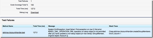mixed_dml_operation error on test case execution