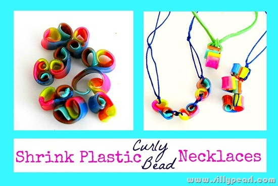 Shrink Plastic Curly Bead Necklaces by The Silly Pearl