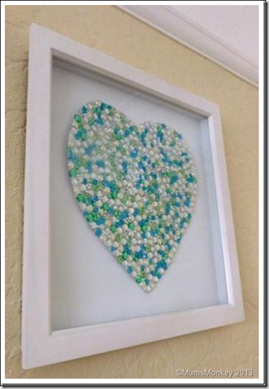 Framed Jewelled Heart 2