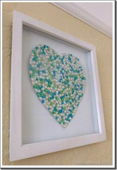 Framed Jewelled Heart 2